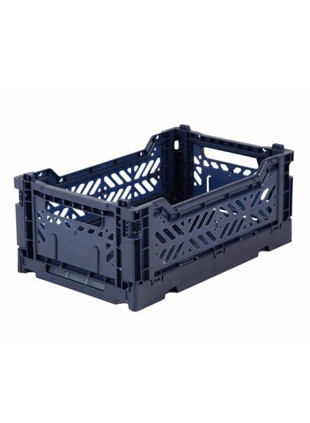 Ay-kasa Folding Crate - navy