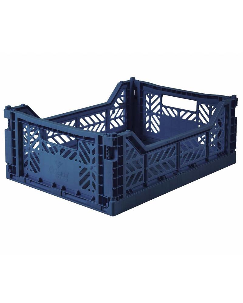 Ay-kasa Folding Crate - navy