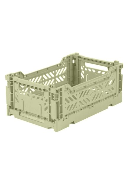 Ay-kasa Folding Crate - lime cream
