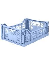 Ay-kasa Folding Crate - baby blue