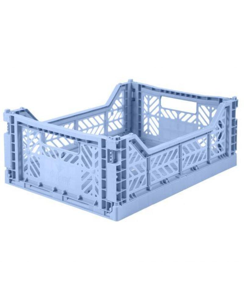 Ay-kasa Folding Crate - baby blue