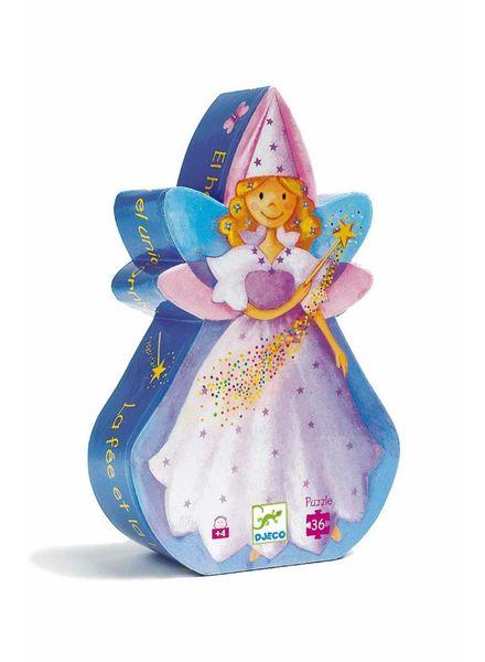 Djeco Silhouettes Puzzle - Fairy and Unicorn