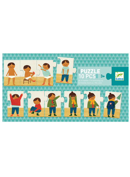 Djeco Puzzle - Ik kleed me aan