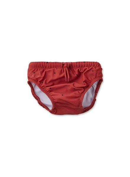 Liewood Frej baby boy swim pants - Classic dot rusty