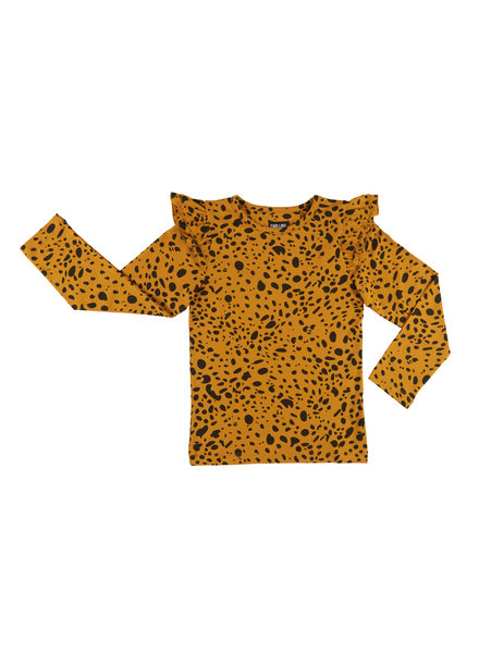 CarlijnQ Spotted animal - longsleeve ruffled sleeves