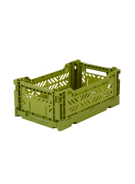 Ay-kasa Folding Crate - Olive