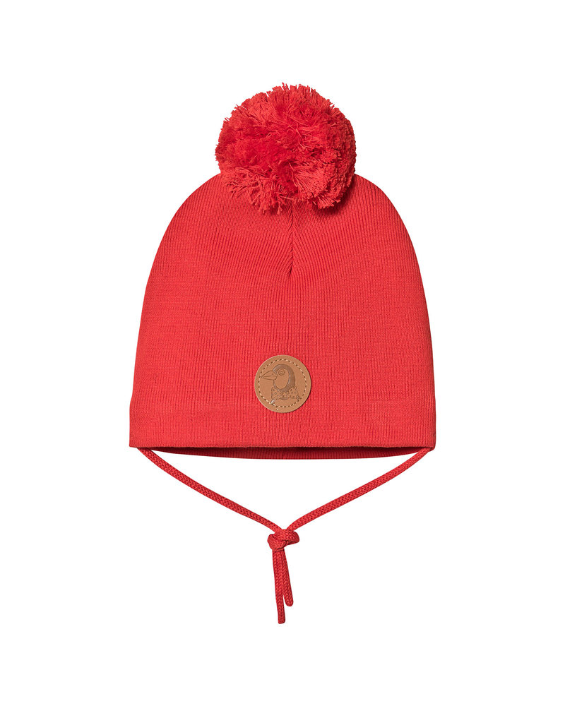 Mini Rodini Penguin hat - Yellow - Red