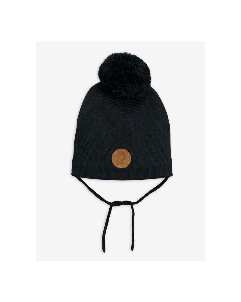 Mini Rodini Penguin hat - Black