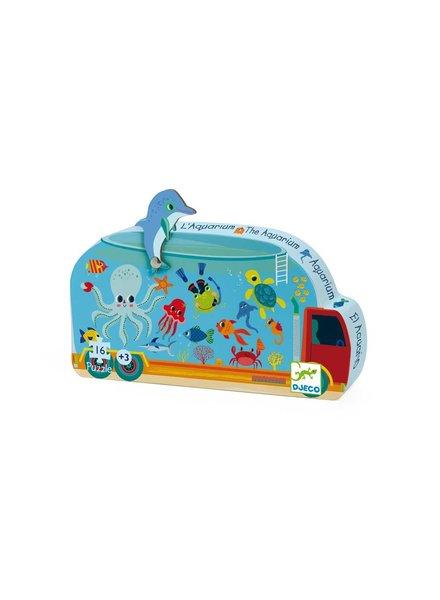 Djeco Silhouettenpuzzle - Aquarium