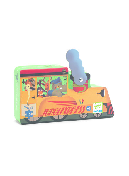 Djeco Silhouette Puzzle - Locomotive