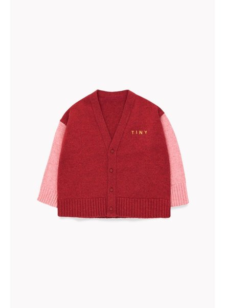 Tiny Cottons TINY CARDIGAN burgundy/pale pink