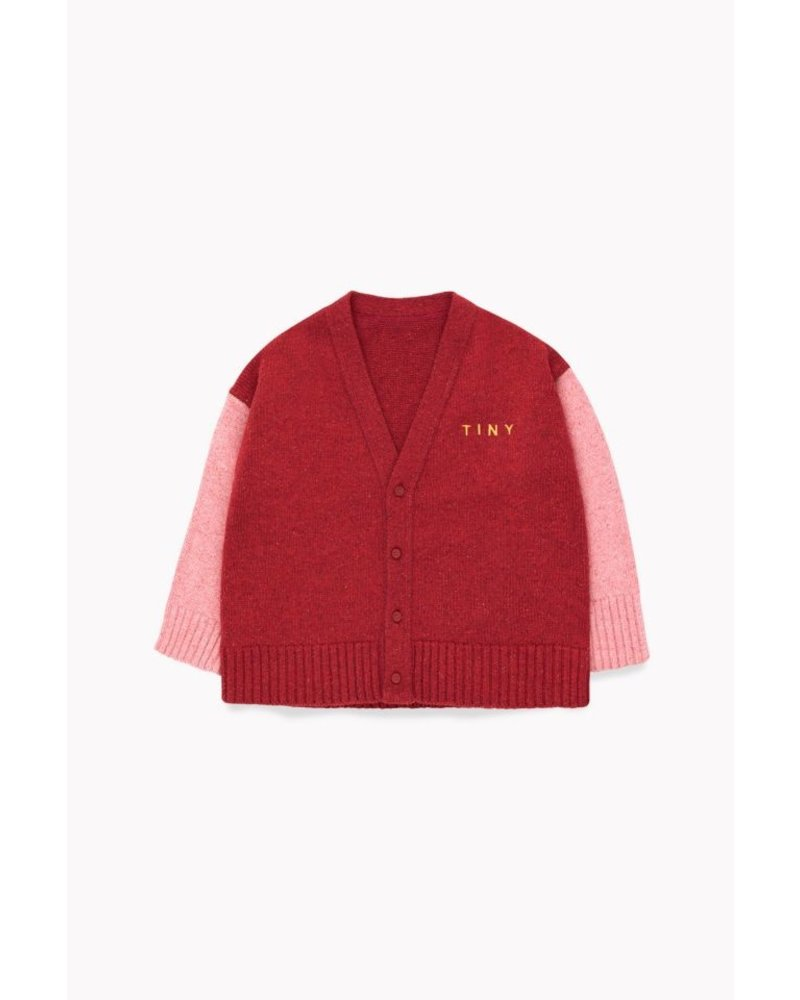 Tiny Cottons TINY CARDIGAN burgundy/pale pink