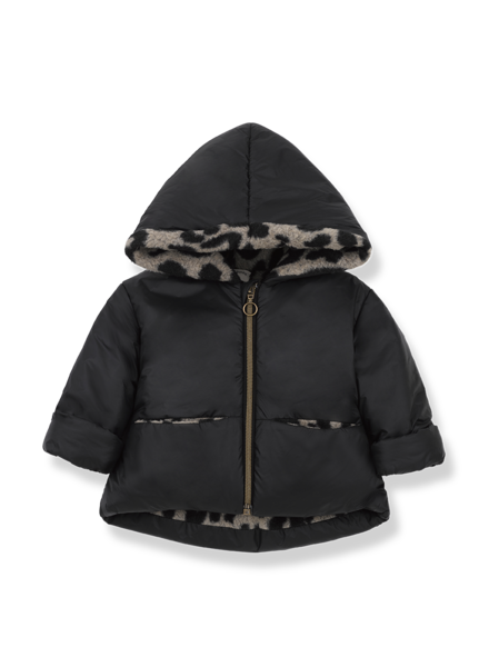 1+ In the family REGINA hood jacket - black/beige