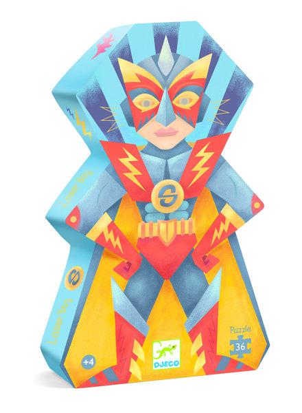 Djeco Silhouettenpuzzle - Laser Boy