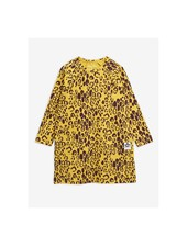 Mini Rodini Leopard LS Dress - yellow