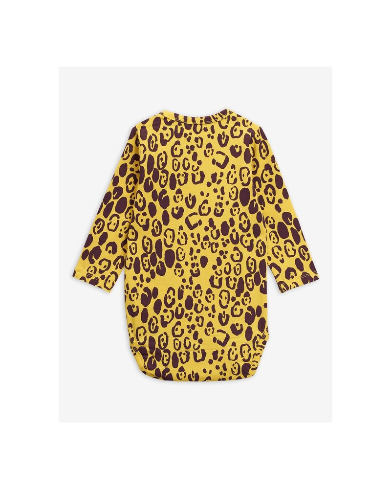 Mini Rodini Leopard LS Body - yellow
