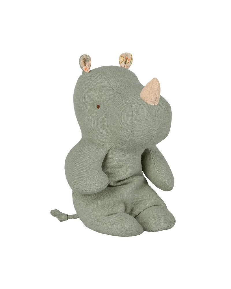 Maileg Safari friends Small rhino - Dusty Green