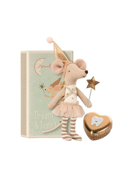 Maileg Tooth fairy -  Big sister mouse with metal box
