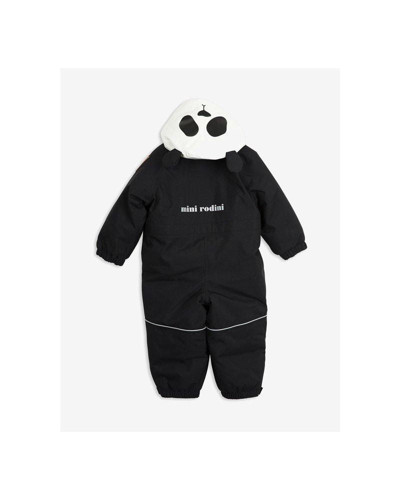 Mini Rodini Alaska Panda Baby Overall - Black