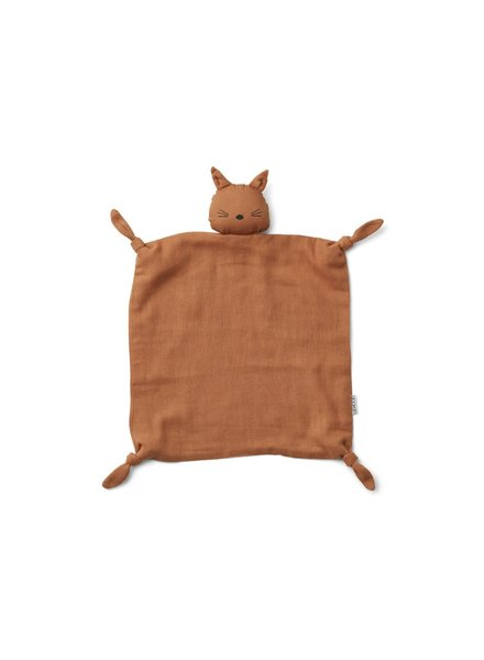 Liewood Agnete cuddle cloth - cat terracotta