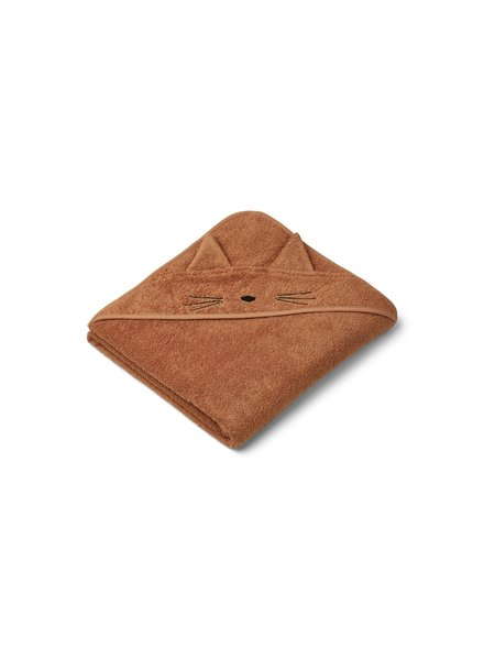 Liewood Augusta Hooded Towel - Cat terracotta
