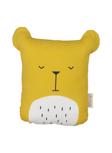 Fabelab Animal Cushion - Lazy Bear - honey