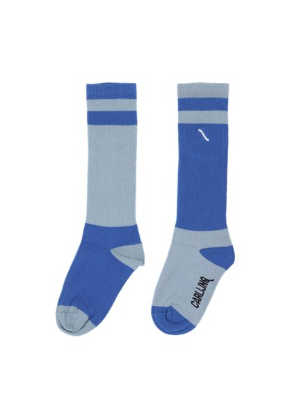CarlijnQ Knee socks - light blue / blue