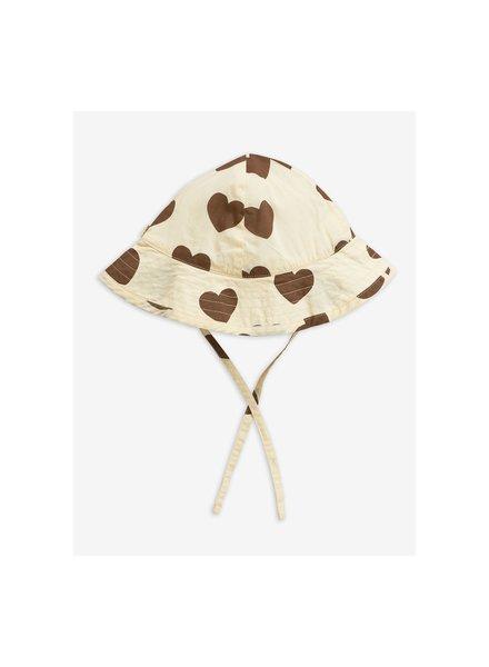 Mini Rodini Hearts sun hat - offwhite