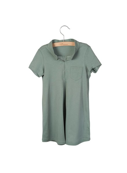 Little Hedonist Blouse Dress Vickey - Chinois Green