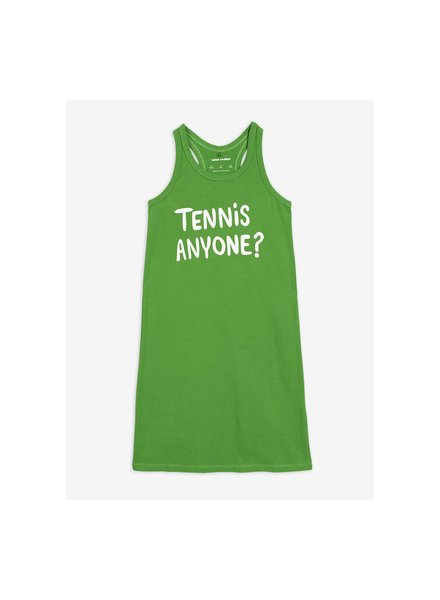 Mini Rodini Tennis anyone tank dress - green