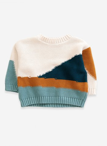 PLAY UP Knitted Sweater - natural
