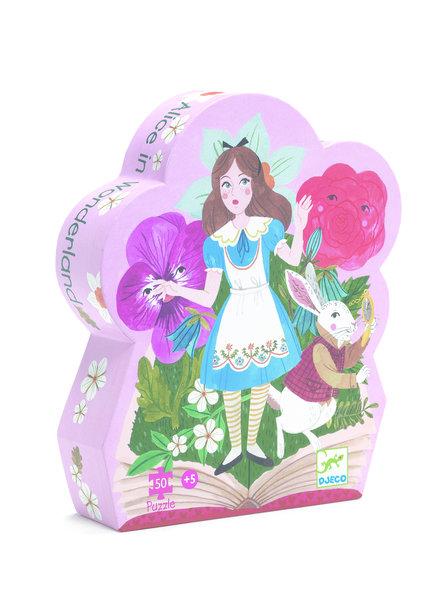 Djeco Silhouettenpuzzle - Alice im Wunderland