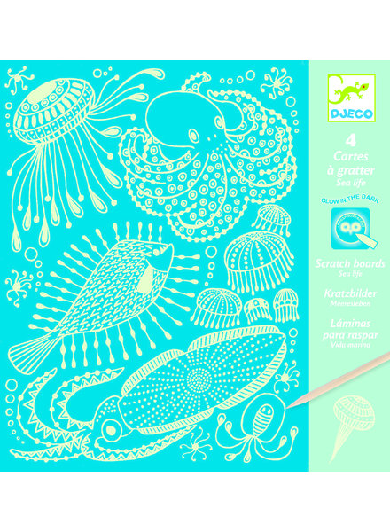 Djeco Scratch pictures - sealife