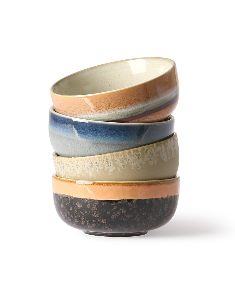 HK Living Ceramic 70's bowls medium set of 4