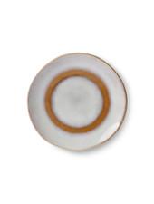 HK Living Ceramic 70's dessert plate - snow
