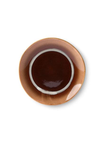 HK Living Ceramic 70's dessert plate - tornado