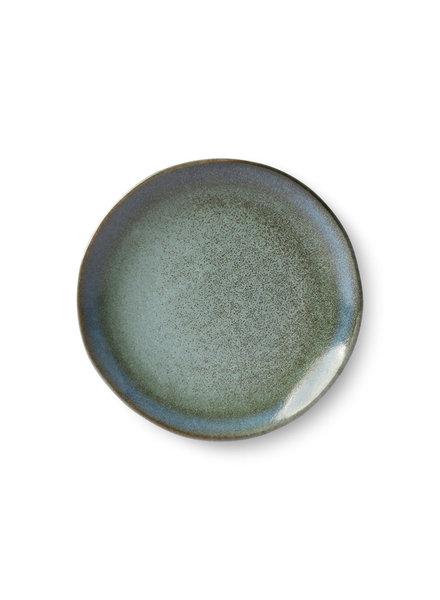 HK Living Ceramic 70's dessert plate - moss