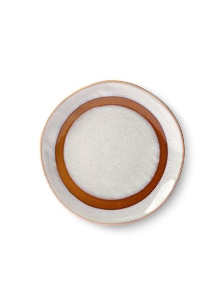 HK Living Ceramic 70's side plate - snow
