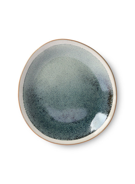 HK Living Ceramic 70's side plate - mist