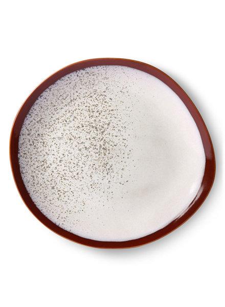 HK Living Ceramic 70's dinner plate - frost