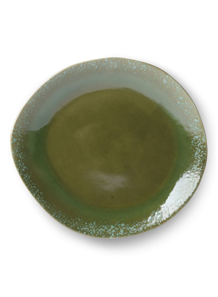 HK Living Ceramic 70's dinner plate - green
