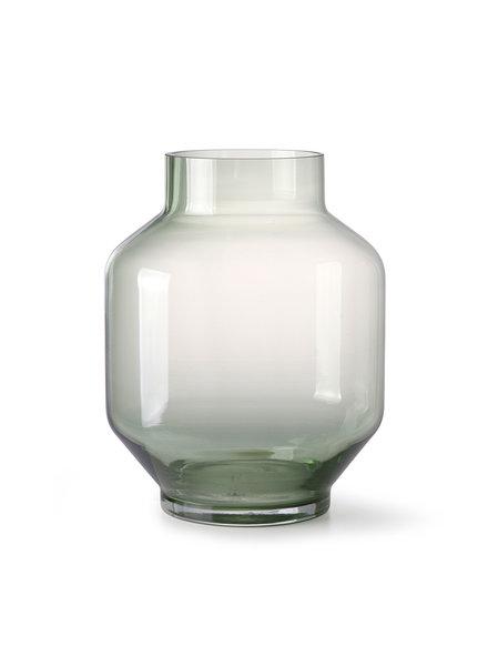 HK Living Green glass vase  - large