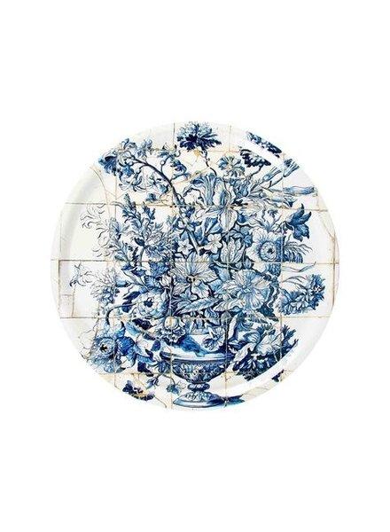 Tablett Fliesen - blau