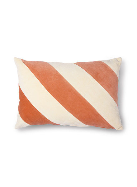 HK Living Striped cushion velvet peach
