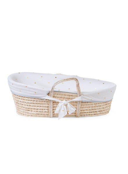 Childhome MOSES CRIB COVER - Jersey gold dots