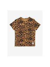 Mini Rodini Basic Leopard ss Tee - Beige