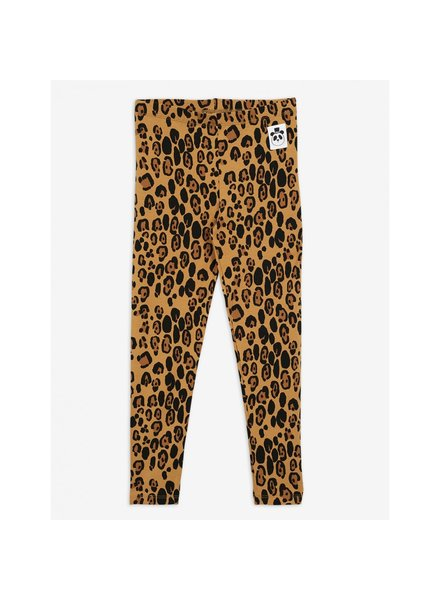 Mini Rodini Basic Leopard Leggings - Beige