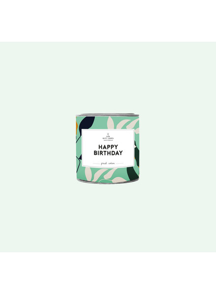 TheGiftLabel Candle tin Large - Happy Birthday