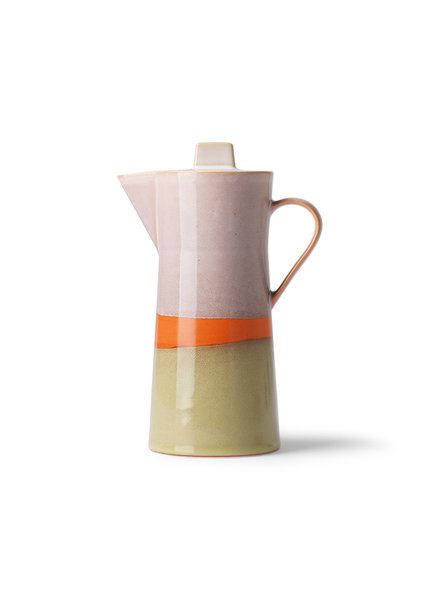 HK Living Ceramic 70's coffee pot