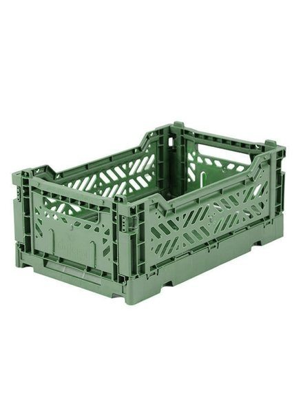 Ay-kasa Folding Crate - Almond Green
